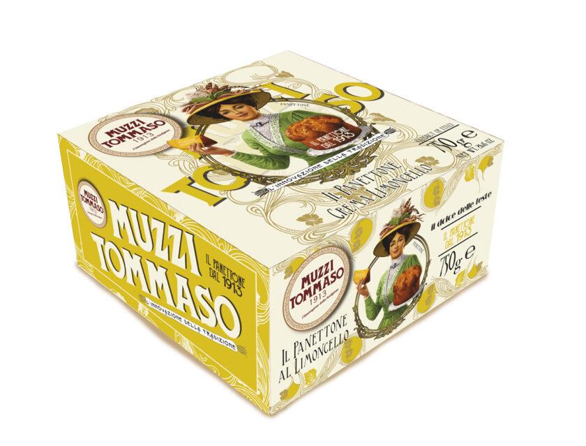 Panettone crema al limoncello Tommaso Muzzi linea classica in astuccio
