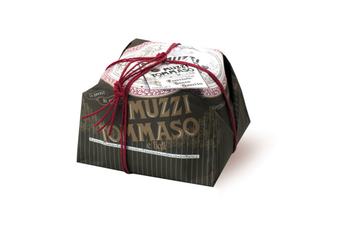 Panettone Ciocco Ghiotto Tommaso Muzzi Linea Vintage incartato