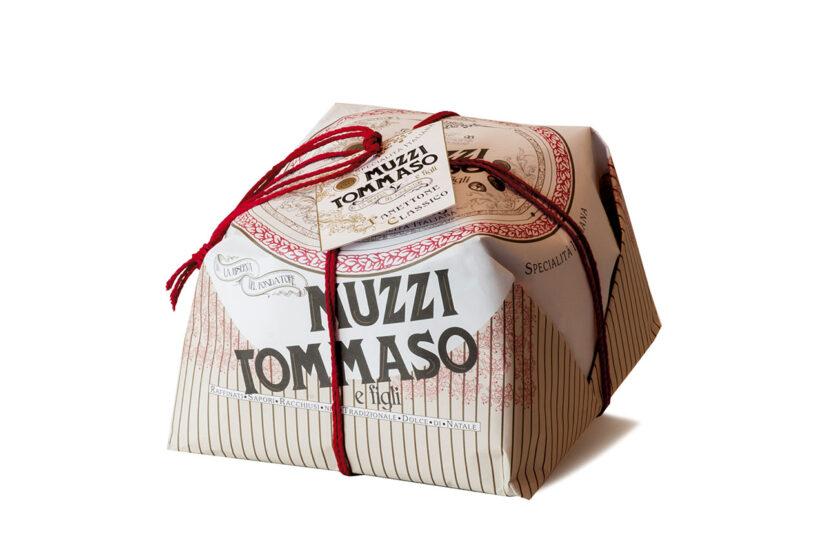 Panettone classico incartato Tommaso Muzzi linea vintage